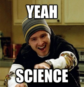 "Image of Jesse Pinkman from ""Breaking Bad"" with caption: ""Yeah Science"""