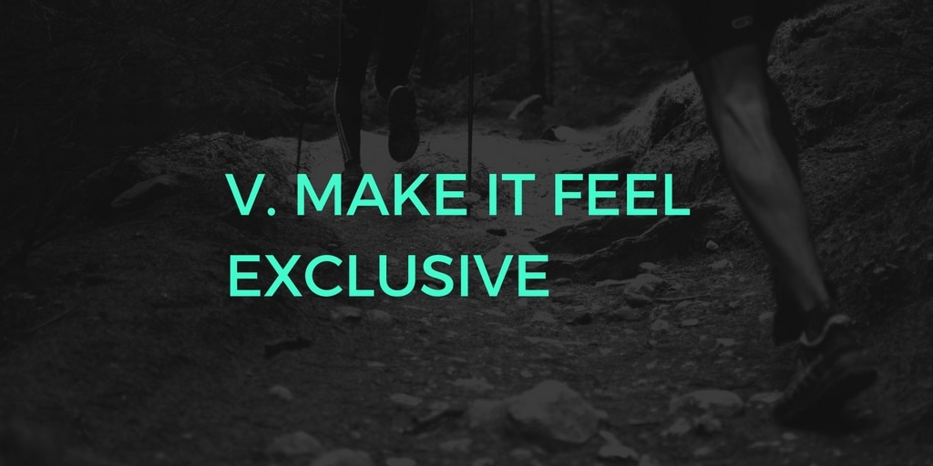 C2C V - make it feel exclusive