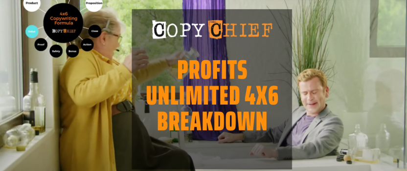 4×6 Copy Breakdown: Profits Unlimited Ad by The Harmon Brothers