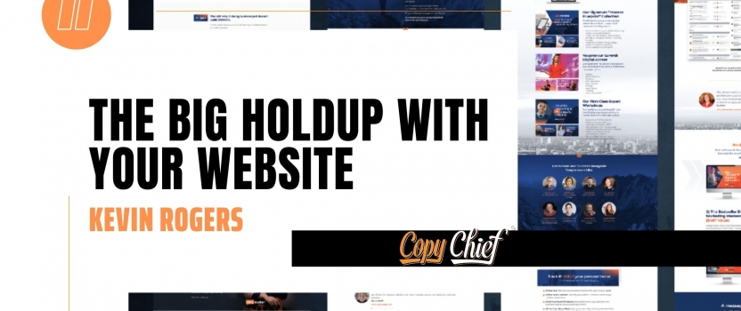 The big holdup with your website