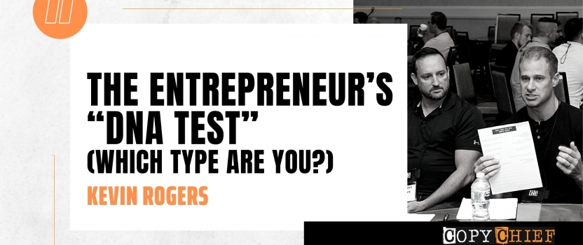 "The entrepreneur's ""DNA test"" (which type are you?)"
