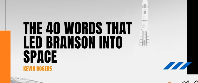 The 40 words that led Branson into space