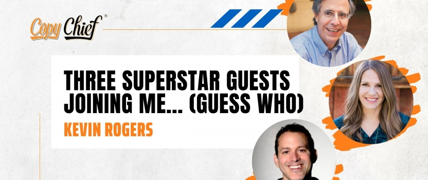 Three superstar guests joining me… (guess who)