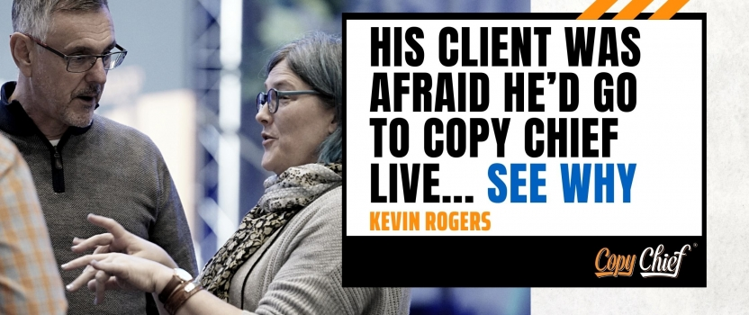 His client was afraid he'd go to Copy Chief Live…See Why